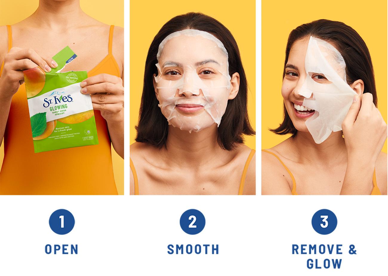 St Ives Modo De Uso Glowing Mask Apricot